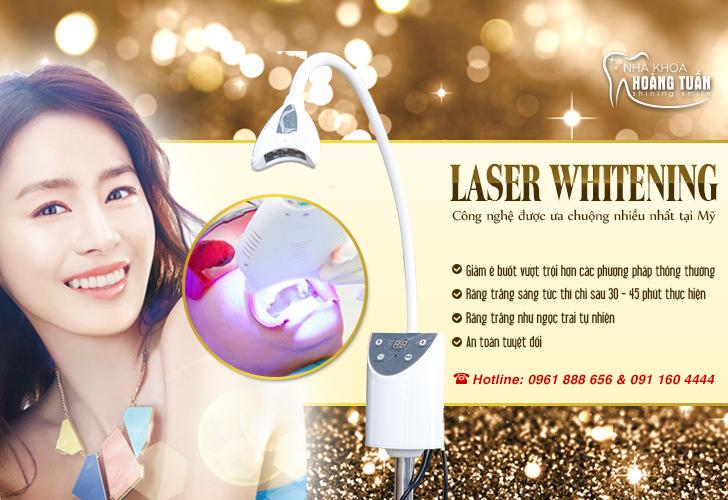 Tẩy trắng răng bằng laser Whitening tại Dr Hoàng Tuấn