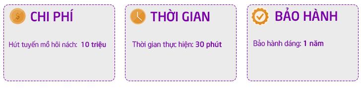 Chi phí hút tuyến mồ hôi nách tại Dr Hoàng Tuấn